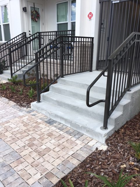 aluminum picket step rail